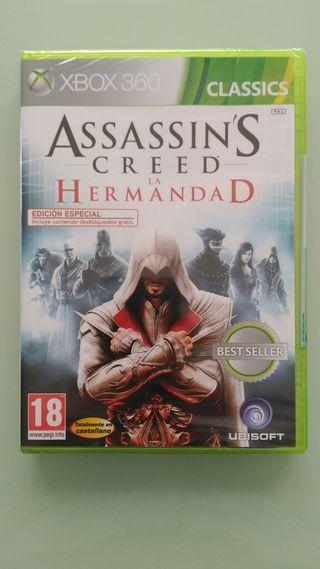 ASSASSINS CREED LA HERMANDAD. XBOX 360 NUEVO