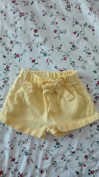 Pantalon corto Zara