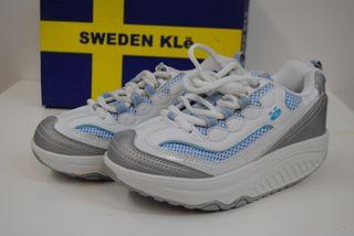 "Zapato ""Sweden KLë"", Fitness bl, sin estr. talla 3"