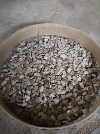 antiguas piedras de trillo o de pedernal