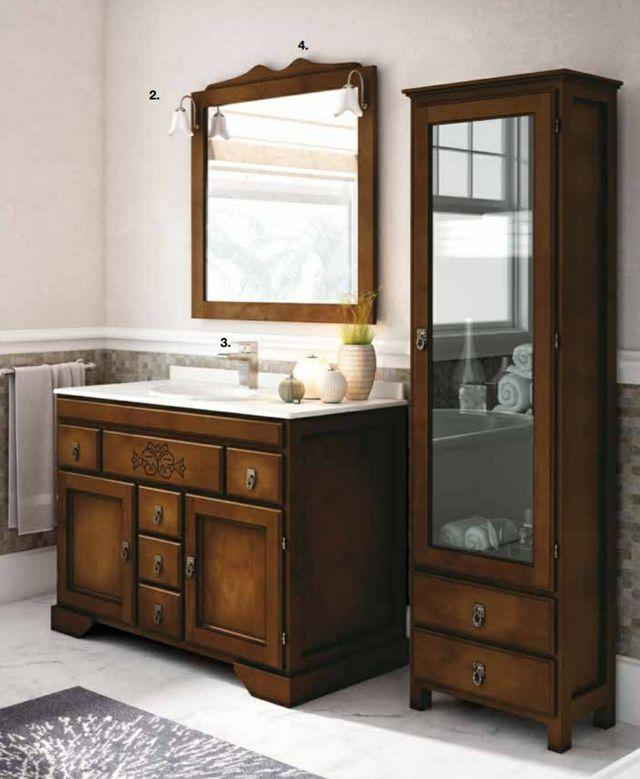 Mueble de baño de 1 metro de madera de segunda mano por ...