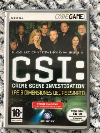 Juego CSI - Las 3 dimensiones del asesinato (PC)
