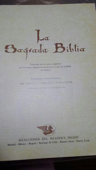 la Sagrada Biblia ed. Selecciones Reader.s Digest.