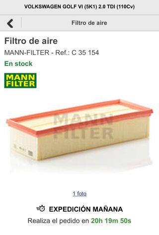 Filtro aire mann filter c35154