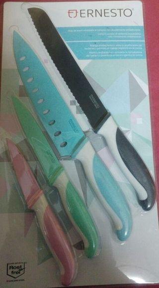Ernesto Set de cuchillos ceramicos. 4 unidades