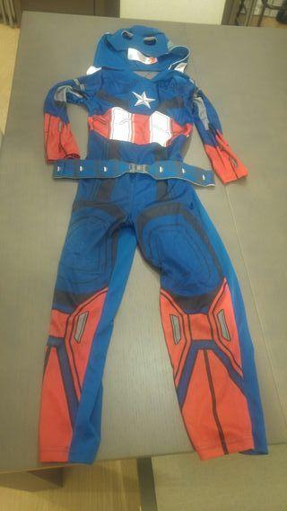 Disfraz de Capitán América 7-8 años