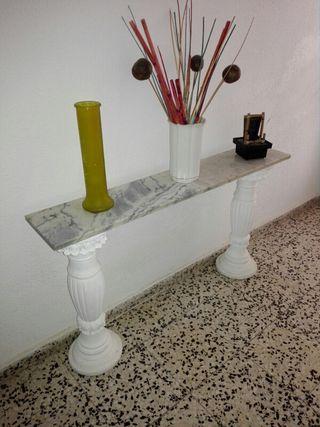 repisa de marmol y escayola