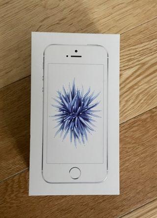 Caja Iphone SE plata