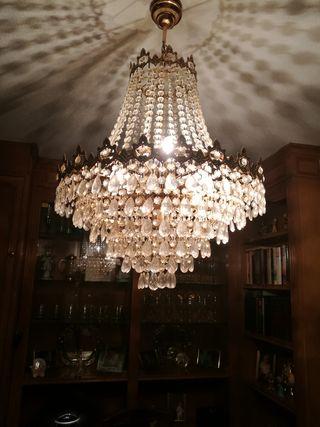 lampara cristal como nueva