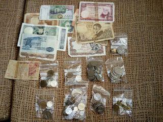 coleccion monedas y billetes antiguos