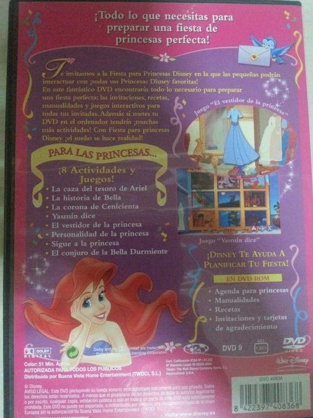 Fiesta para princesas DVD de segunda mano por 5 € en Valencia - wallapop