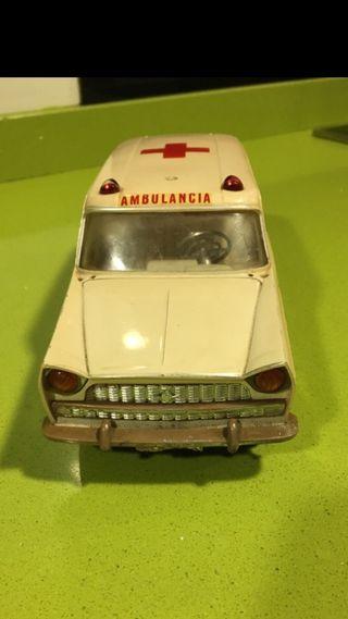 Ambulancia Rico seat 1400,guisval,matchbox,joustra,pilen,paya,sanchis,jyesa,juguete antiguo