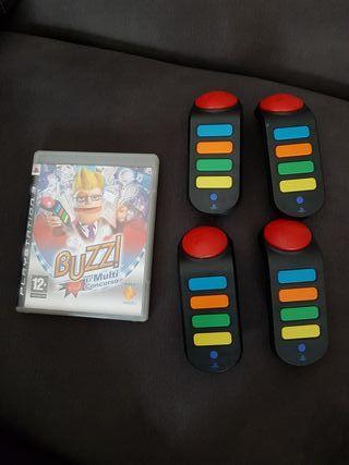 juego ps3 buzz con 4 mandos