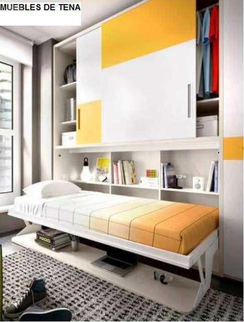 Cama abatible armario escritorio de segunda mano por 899 - Cama empotrada en armario ...
