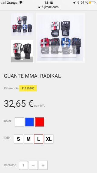 Guantes MMA FUJI MAE RADIKAL