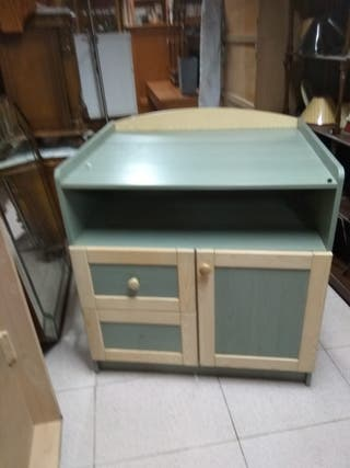 Mesa centro expositora elegante madera maciza de segunda - Segunda mano coruna muebles ...