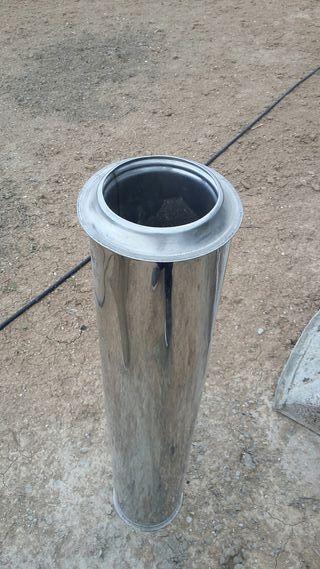 Tubo chimenea 125. acero doble pared