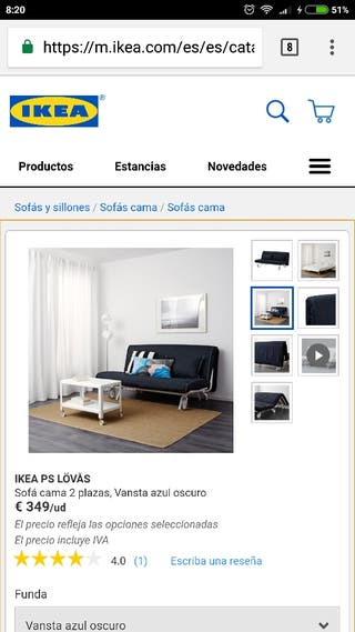 Sofá cama ikea 2 plazas