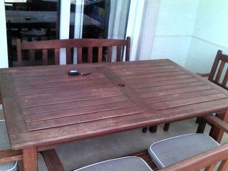 Mesa + sillas terraza
