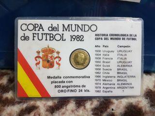 Medalla copa de fútbol de España 1982