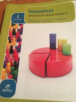 Libro matemáticas 2 bachiller
