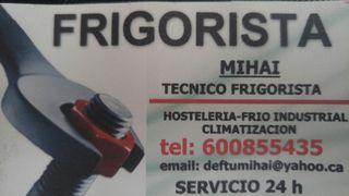 Tecnico Frigorista servicio 24h