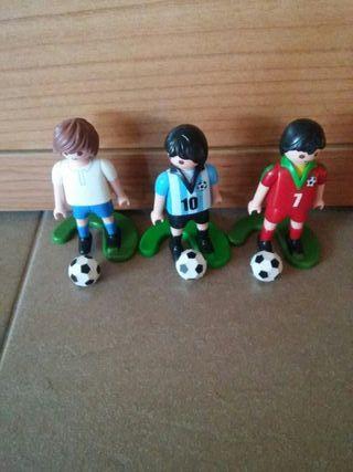 lote de playmonil de futbolistas