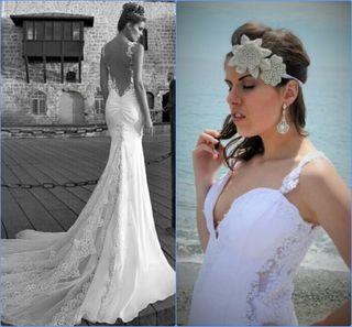 Último precio ! Vestido de novia hecho a mano