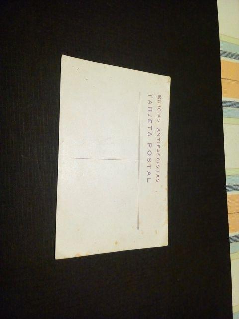 tarjeta postal milicias antifascistas