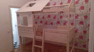 cama para niños tipo casa
