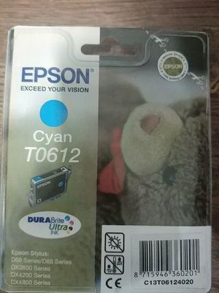 Epson T0612 Cartucho de tinta - Paquete de 1 Cián