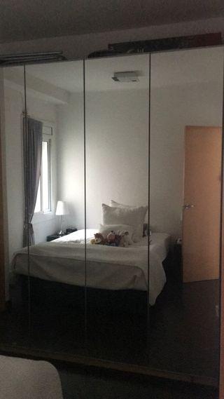 Armario 4 cuerpos (espejo)