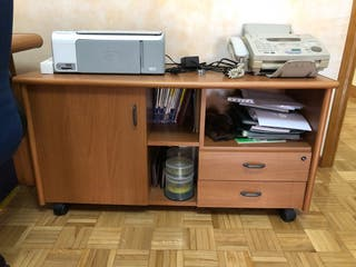 Escritorio oficina + mueble auxiliar
