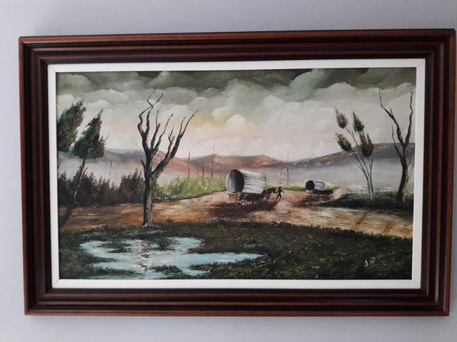óleo 59 x 100 cm