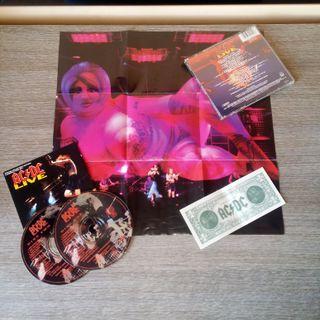 Doble CD AC/DC Live EDICION DOLAR + POSTER
