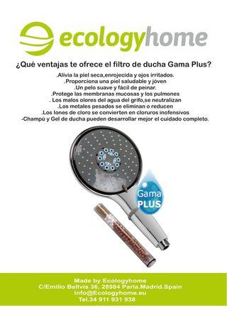 alcachofa de ducha con filtro antical
