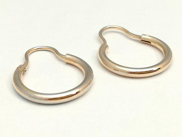 Pendientes de aros en oro de 18 K de 1,5 cm