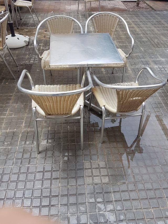 Mesa Sillas Terraza Bar De Segunda Mano Por 100 En Bagà En