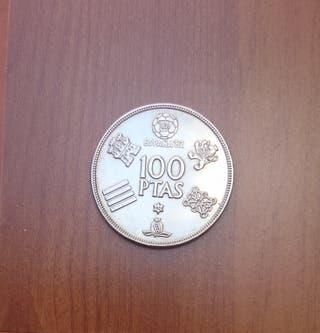 Moneda de 100 pesetas.