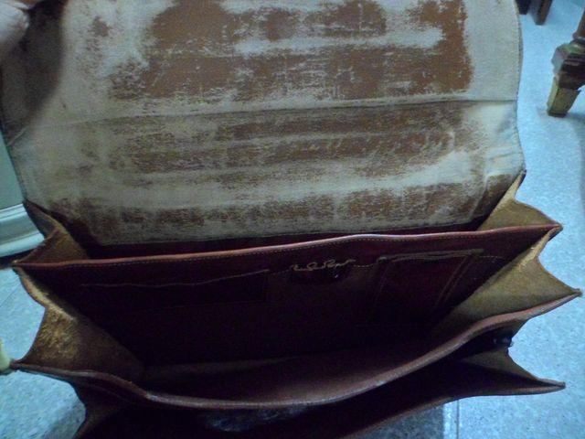 maleta / bolso cuero profesor
