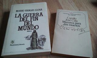 Lote de dos libros de literatura y novela