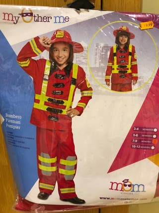 Disfraz bombero nuevo