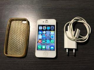 Móvil Apple iPhone 4S blanco libre con extras