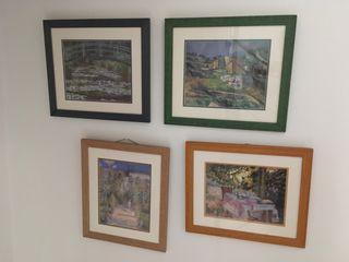 Cuatro cuadros, serie al óleo