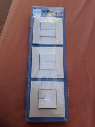pack 3 conmutador blanco