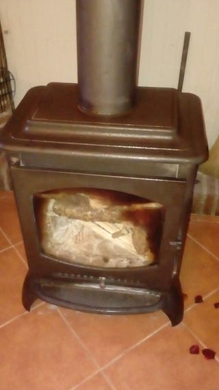 Estufa leña hierro fundido