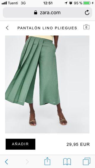 Falda pantalón de lino