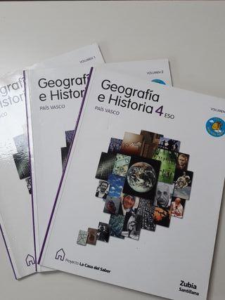 GEOGRAFÍA E HISTORIA 4 ESO ZUBIA SANTILLANA