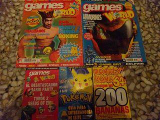 N64 GAMESWORLD+ MINIGUIAS ( REVISTAS ESPAÑOLAS )