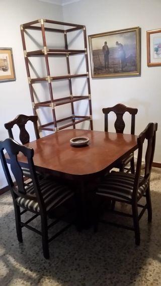 Conjunto mesa y sillas madera